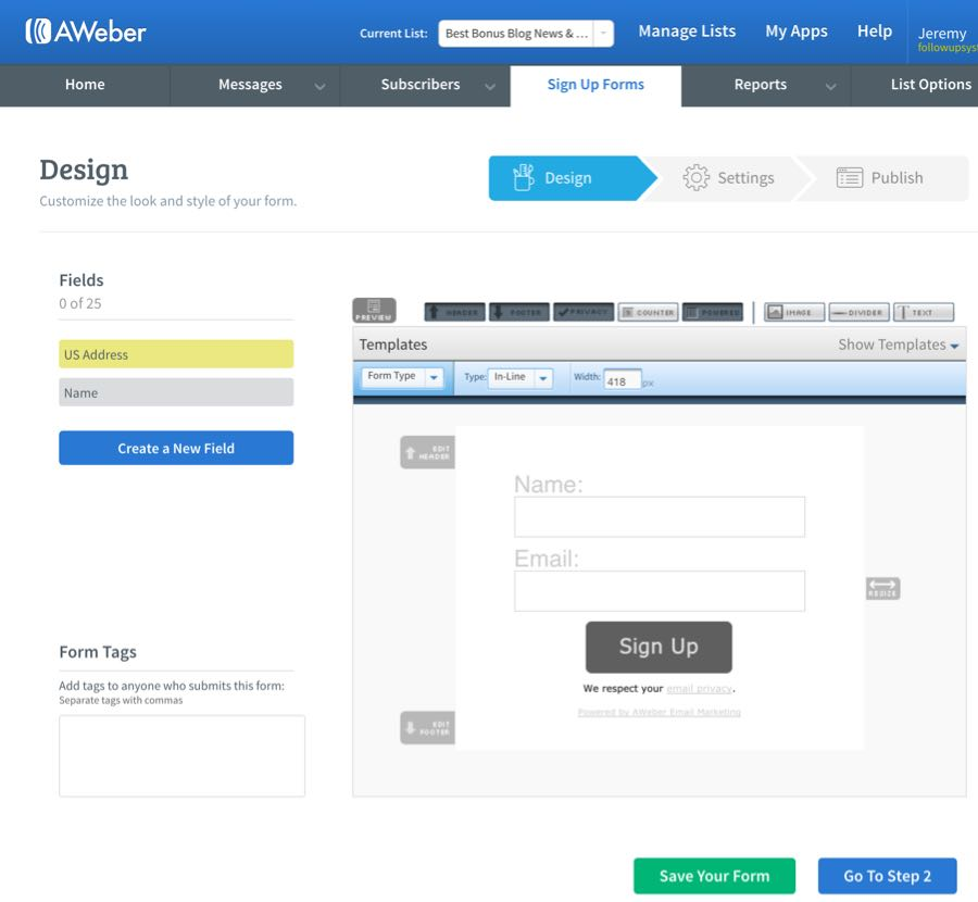 Autoresponder Reviews | Aweber Sign up Forms