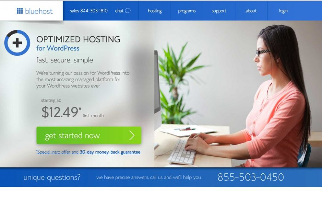 Blue Host Dashboard-Web Hosting for WordPress