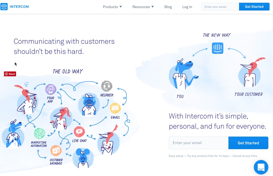 Intercom Help Desk Software