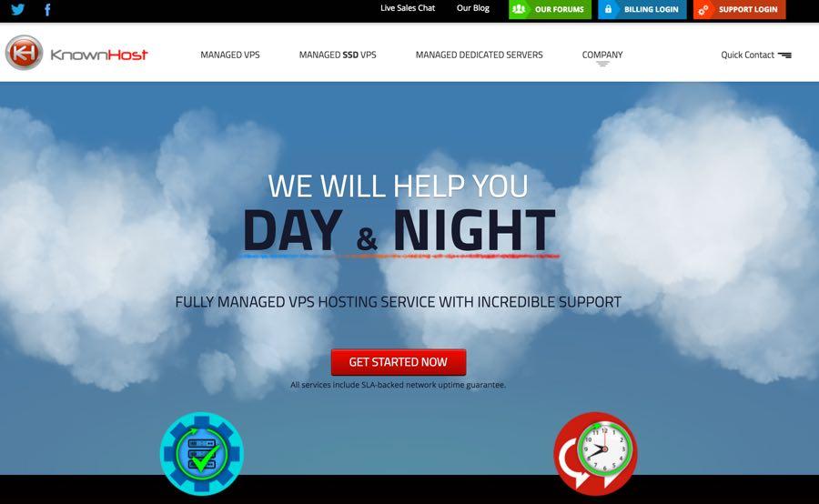 KnownHost Dashboard Web Hosting for WordPress