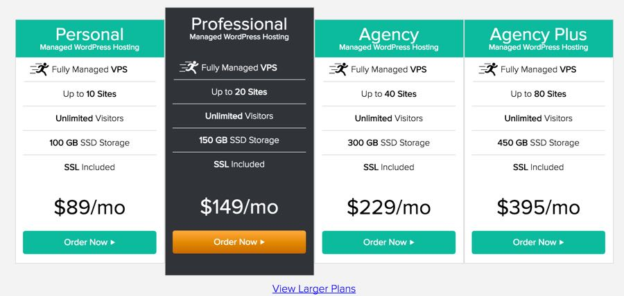 LiquidWeb Pricing Web Hosting for WordPress