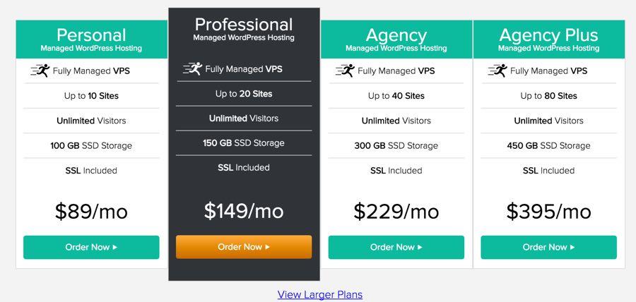 LiquidWeb Pricing Web Hosting for WordPress