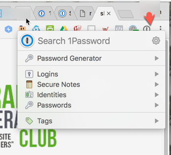 1Password screenshot generating strong password