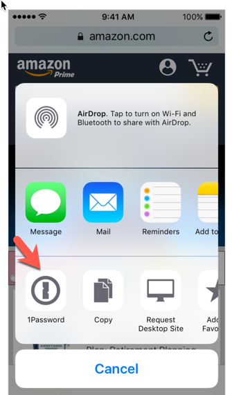 1Password auto-fill on iOS