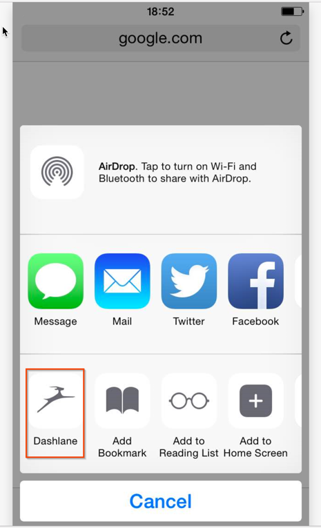 Dashlane IOS Auto Fill