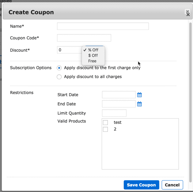 Membership Site Services Review - MemberMouse Coupon Settings