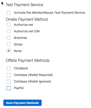 Membership Site Services Review - MemberMouse Payment Gateway Settings