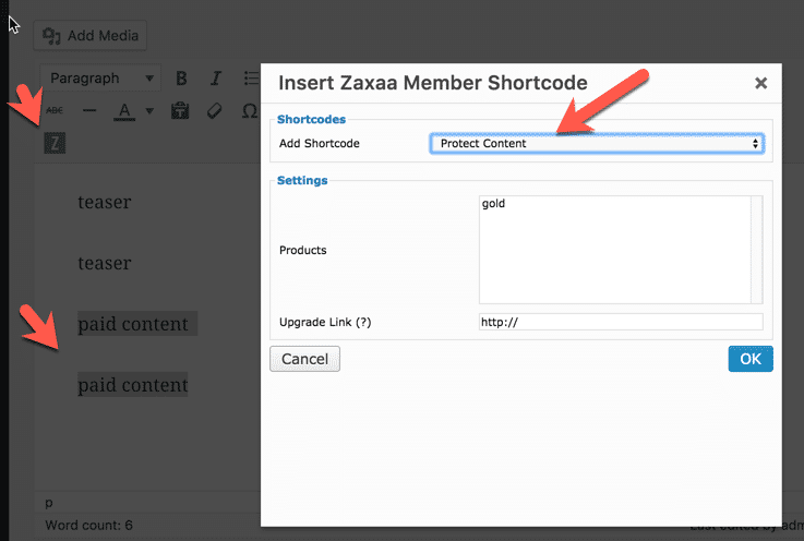 Membership Site Services Review - Zaxaa Content Teaser Settings