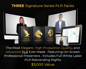 Signature Series PLR: Search Advertising, Lead Generation, Funnel Building