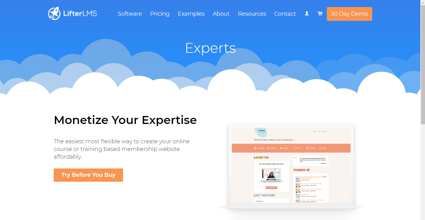 Membership Site Services Review - LifterLMS FrontPage
