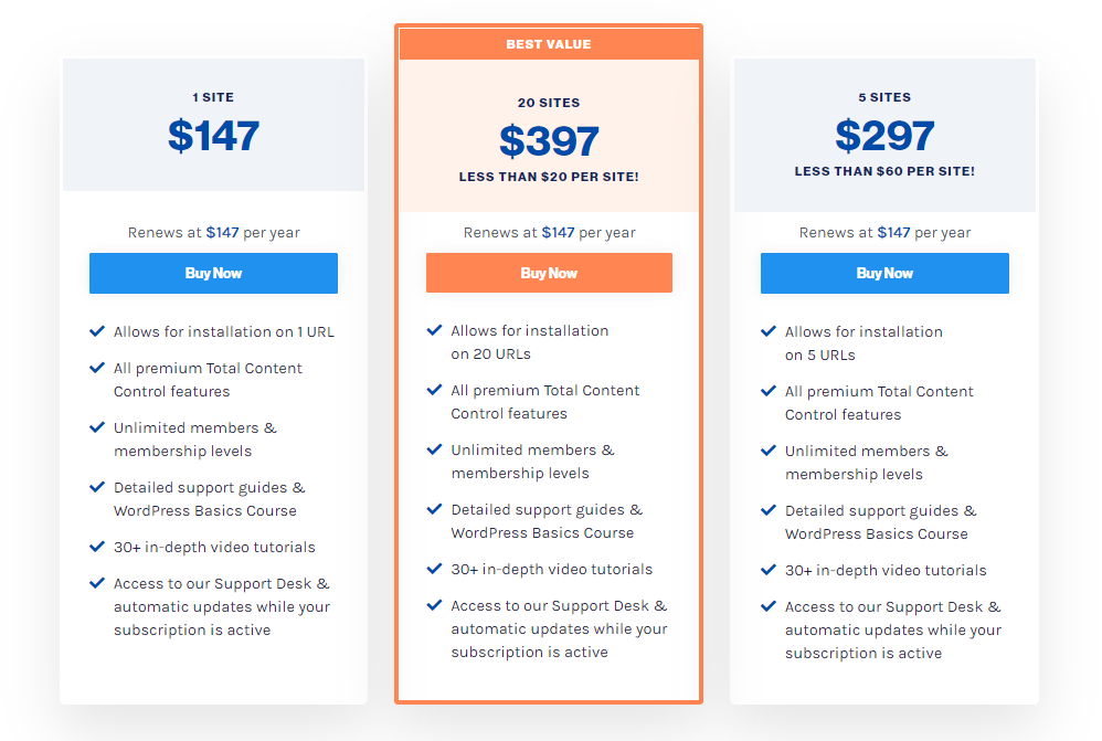 Membership Site Services Review - WishList Pricing