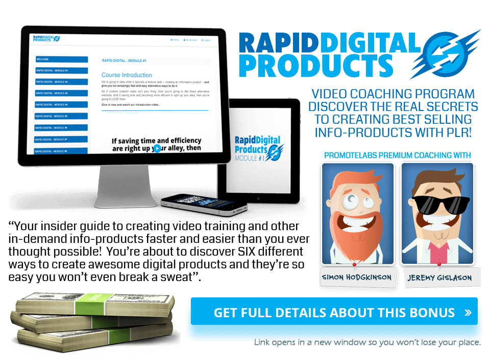 Act Fast And Get Rapid Digital Products Included!