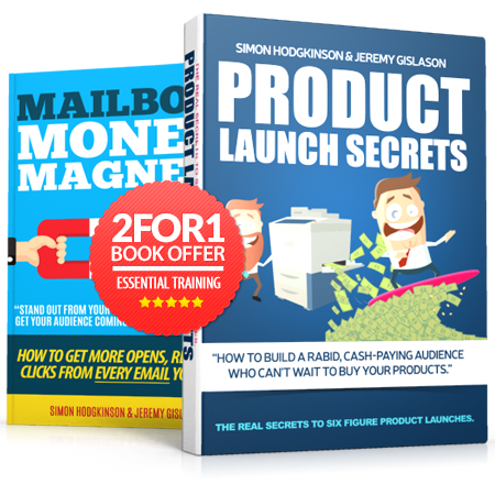 Product Launch Secrets and Mailbox Money Magnet Books